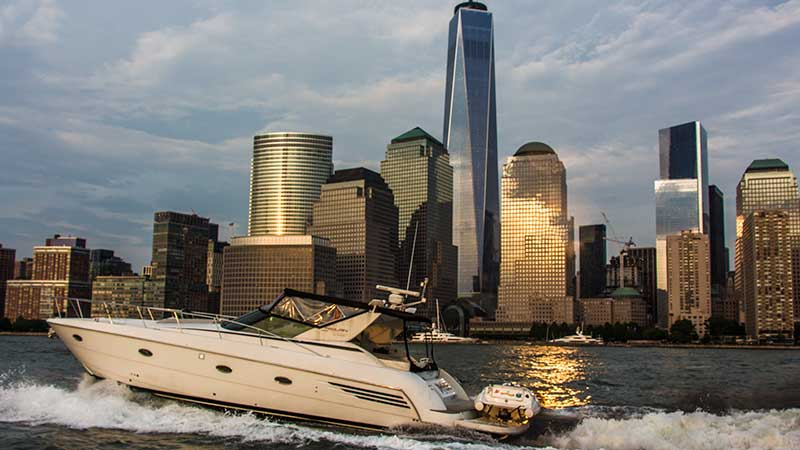 Motor Yacht at Freedom Tower